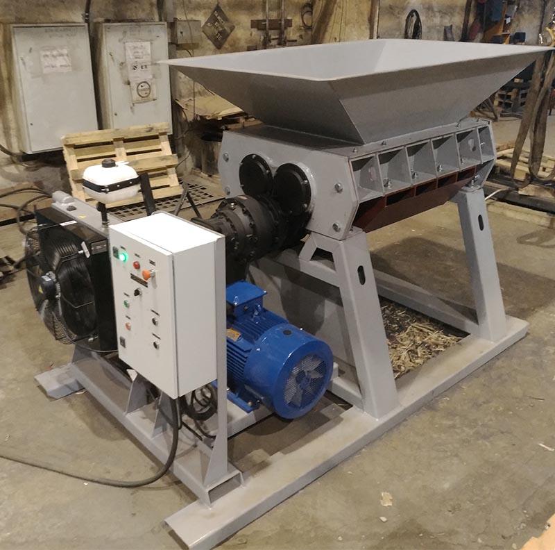 Шредер двухвалльный ВМ-360 для древесины, строительных отходов, КГО